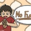 まずそうにパンを食べながら、記事のタイトルを言い出している男子