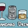 記事の上で並べられた様々なお酒
