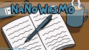 ナノライモに挑戦している人の机の様子と、記事のタイトル