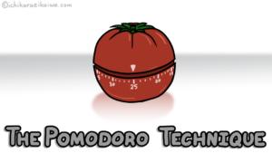 トマト型の「ポモドーロ」タイマーと、記事のタイトル