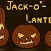 暗闇に光る3つのカボチャちょうちんと「Jack-o'-lanterns」という記事のタイトル
