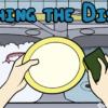 水を溜めて皿を洗っている手と記事のタイトル「Washing the Dishes」
