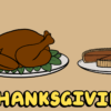アメリカの感謝祭(サンクスギビング)のご馳走として出る定番、ロースト七面鳥とパンプキンパイ